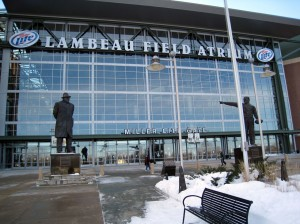 Outside Lambeau Field